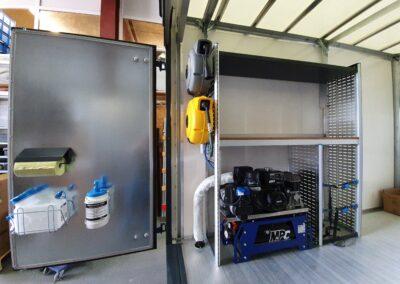 Compresseur/ Générateur thermique avec sortie de l'échappement vers l'extérieur